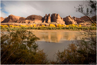 Navajo Sandstone bluffs along the Colorado River