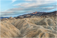 View SE from Zabriskie Point toward Mt. Perry (catching the last sunlight of the day)