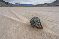 Sailing stone at Racetrack Playa, Death Valley National Park.